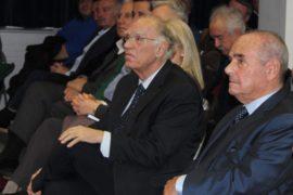 κ. Βασίλης Λεβέντης, πρόεδρος της Ένωσης Κεντρώων και βουλευτής του Ελληνικού Κοινοβουλίου & Ο συγγραφέας κ. Αντώνης Ναξάκης, αρχιπλοίαρχος Ε.Α.