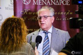 Ο Καθ. Ε.Μ.Π. Νικόλαος Ουζούνογλου, συγγραφέας της έκδοσης και πρόεδρος της Οικουμενικής Ομοσπονδίας Κωνσταντινουπολιτών