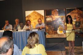 Οι ομιλητές από αριστερά: κ. Γ. Σαχίνης, κ. Θ. Δρίτσας, κ. Ντ. Αδαμοπούλου, ο κ. Λ. Βαζαίος και συντονισμός η κ. Μ. Σωτηροπούλου